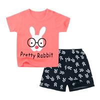 女童短袖套装宝宝夏装外出服T恤女婴儿内衣小儿童运动服潮