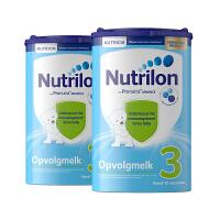 原装进口保税仓发货 荷兰本土牛栏诺优能Nutrilon 婴幼儿奶粉3段800g(10-12个月宝宝)*二罐装 效期18