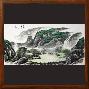 1.38米山水画《乾坤聚玉》实力画家松涛 边秀后R2665