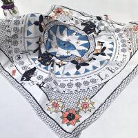 丝巾女春夏季韩版百搭2018新款时尚简约纱巾两用雪纺时髦披肩围巾