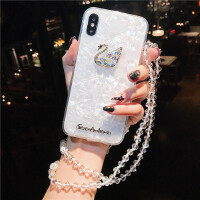 苹果X手机壳女款挂绳iPhone七8plus软6s硅胶保护套潮
