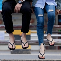外穿情侣黑色人字拖男士夏季凉拖鞋室外夹脚防滑平底跟沙滩鞋潮流