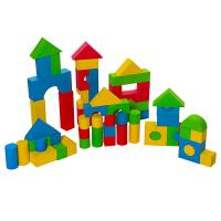 儿童积木玩具4-6周岁软式积木宝宝积木益智玩具亲子早教婴儿玩具 60片