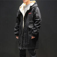 冬季新款加绒加厚棉衣男士韩版中长款棉服潮流学生棉袄外套男