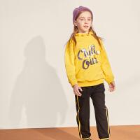 【2件3折:105】巴拉巴拉旗下 巴帝巴帝童装2019年秋新品女童中大童时尚运动甜美套装