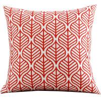 北欧黄色红色棉麻抱枕套靠垫几何图案简约现代样板房客厅沙发靠枕