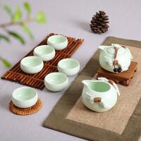 定窑茶具 整套茶具套装功夫茶具陶瓷紫砂茶壶冰裂茶杯海茶盘
