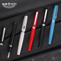 包邮 英雄钢笔382钢笔美工笔 学生用办公用练字手绘速写22K镀金直尖弯头美工笔