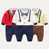 婴儿连体衣春秋新生儿衣服初生0婴儿纯棉爬服6-12个月1岁0-3-6-9