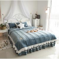 韩版冬珊瑚绒四件套夹棉加厚法兰绒法莱绒被套床裙1.5/1.8m米床上
