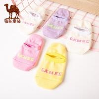 小骆驼童装儿童袜子保暖8910岁男童袜印花字母中童袜纯色棉质袜子