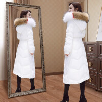 羽绒服女韩版中长款长过膝白鸭绒时尚女装冬外套潮