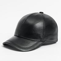 帽子男士棒球帽 春秋中老年休闲鸭舌帽户外潮流牛皮单帽加大