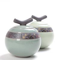 茶叶罐陶瓷罐密封罐存储罐大号创意哥窑便携家用简易通用简约家居