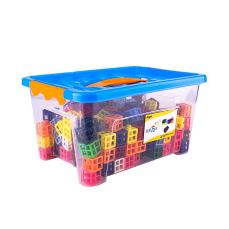 方形积木儿童益智塑料玩具拼插拼接宝宝