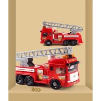 男孩4岁宝宝玩具车模型儿童消防车玩具大号升降惯性工程车套装