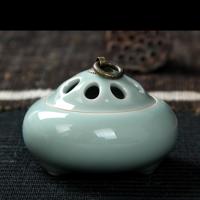 陶瓷香薰炉陶瓷佛具手工仿古线香檀香沉香茶道香炉 瓷器摆件香盒香炉实用家居摆件熏香炉