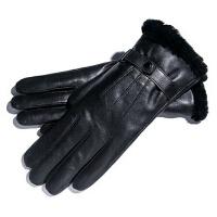 女士一体棉手套商务冬天季加厚超保暖防寒皮毛