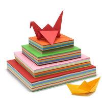 千纸鹤折纸材料彩色A4纸正方形DIY彩纸A4混合装幼儿园手工纸彩色卡纸瓦楞纸儿童剪纸