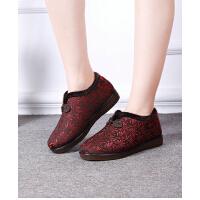 布鞋冬季中老年人妈妈女棉鞋加厚保暖老太太奶奶鞋休闲鞋