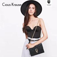 Clous KrauseCK女包新品斜挎包单肩包时尚简约优雅流行菱格链条小包百搭复古斜挎包