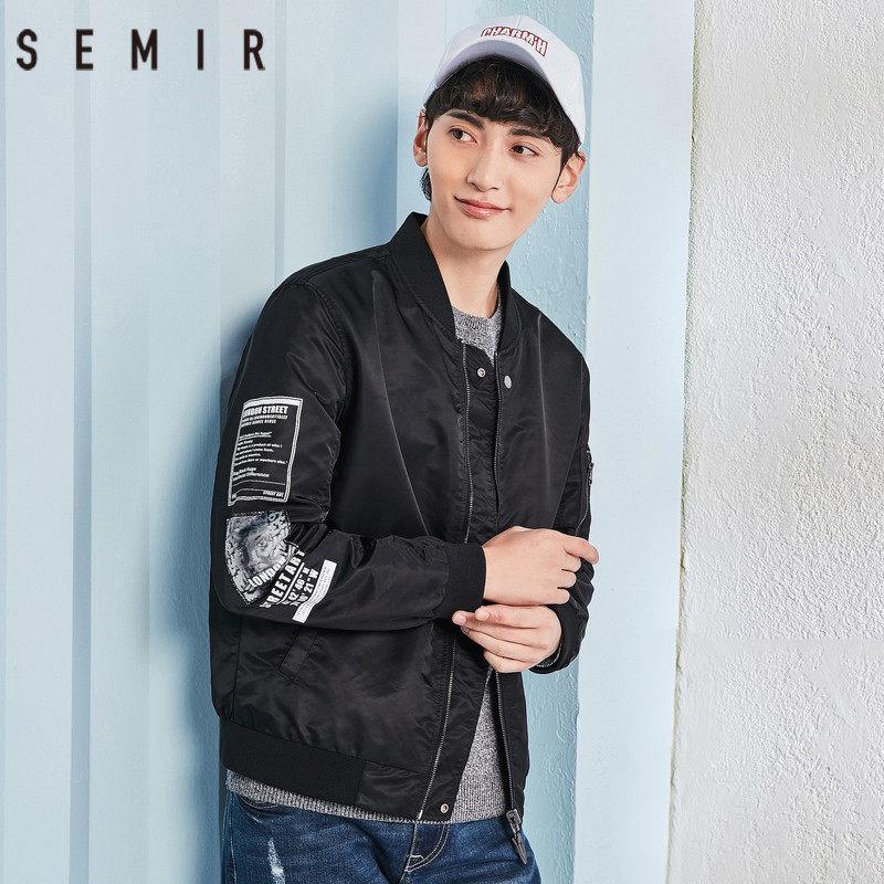 森马夹克男2018春季新款男士韩版潮流两面穿帅气迷彩学生外套潮