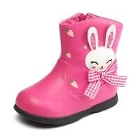 SHOEBOX/鞋柜 新款女童短靴 秋冬单靴儿童雪地靴保暖靴子