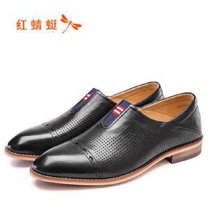 红蜻蜓男鞋休闲皮鞋秋冬休闲鞋子男WZA63321