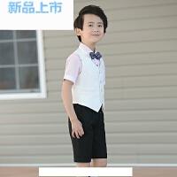 儿童礼服男童马甲套装花童礼服夏小孩钢琴演出服主持人西装
