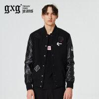gxg.jeans男装冬新品青年时尚短款修身休闲夹克外套潮64621090