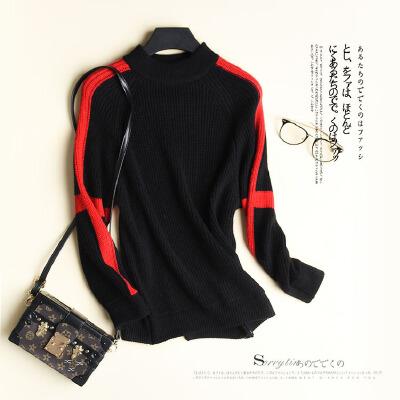 元宝针织粗棒针工艺拼色毛衣女士针织衫 L0/6/95 发货周期:一般在付款后2-90天左右发货,具体发货时间请以与客服协商的时间为准