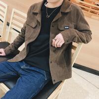 春秋季男士夹克衫韩版青年潮流工装上衣修身休闲秋装纯色外套长袖