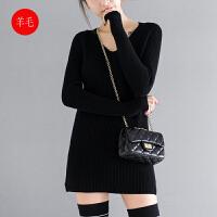 冬季全羊毛V领针织套头毛衣女冬B0/3/00