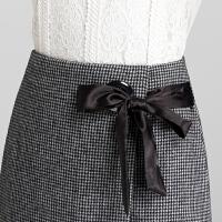 短裙女秋冬裙呢子裙子高腰大码格子半身裙女半裙字裙