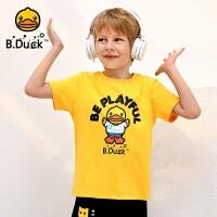 【4折价:91.6】B.duck小黄鸭童装男童短袖T恤中夏新款半袖潮牌休闲上衣BF2001916