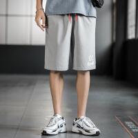 薄款夏天短裤男抽绳腰带休闲五分裤宽松直筒潮流皮肤运动裤大裤衩