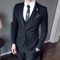 西服套装男士三件套青少年韩版修身伴郎团新郎结婚礼服西装英伦风