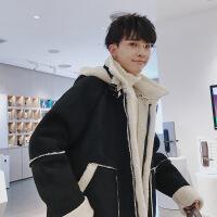 冬装宽松短款棉衣韩版潮流男士羊羔毛外套衣服冬季棉袄子2018新款
