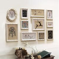 欧式照片墙 客厅相框墙卧室相片墙实木创意组合挂墙 11框