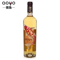 傲鱼AOYO智利原瓶进口红酒 霞多丽半干白葡萄酒2015年750ml*1