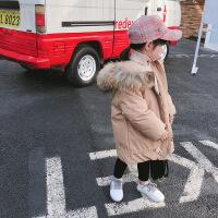 女童冬装外套棉袄韩版新款儿童棉衣中小童宝宝加厚中长款羽绒
