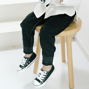 【尾品汇 129元3件】帕丁猫童装2018秋季新款男童男宝韩版休闲牛仔裤