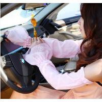 防晒手套蕾丝半指手套 夏天季袖套骑车开车手套薄长款女士
