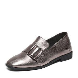 Belle/百丽2017春专柜同款时尚英伦荔纹牛皮女单鞋BLN20AM7