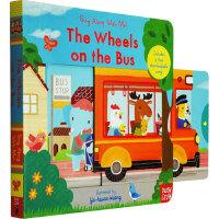 英文原版绘本 Sing Along With Me! The Wheels on the Bus 英文童谣机关操作书