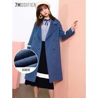 双面羊绒大衣女中长款2018冬季新款羊毛韩版潮修身赫本风毛呢外套