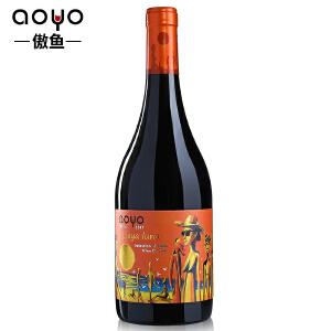 傲鱼红酒智利原装进口 天体海滩精酿马尔贝克干红葡萄酒750ml*1