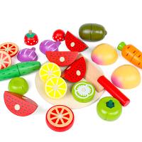 儿童水果切切乐玩具男女孩厨房过家家蔬菜切切看磁性木制套装组合