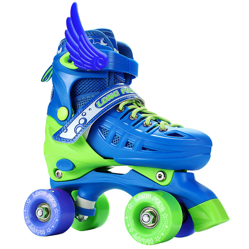 3-5-4-6-10岁 溜冰鞋儿童双排轮旱冰鞋四轮滑冰鞋男女轮滑鞋全套装