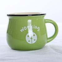 陶瓷儿童杯子咖啡杯情侣水杯 微波炉牛奶早餐杯 咖啡杯O
